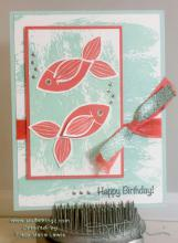 Stamp A Stack Card #4 - Fish Card My Version | Tracy Marie Lewis | www.stuffnthingz.com