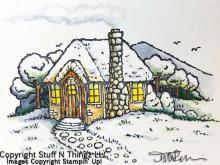 Cozy Cottage In Winter | Tracy Marie Lewis | www.stuffnthingz.com