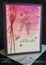 Ombre Watercolor Dragonfly Note Card | Tracy Marie Lewis | www.stuffnthingz.com