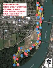 Edgewater Disc Colf Course Map | Tracy Marie Lewis | www.stuffnthingz.com