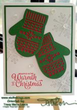 Tutorial - Many Mittens Snowflake Sentiments Class Card | Tracy Marie Lewis | www.stuffnthingz.com