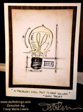 Lightbulb Problem Solving Card | Tracy Marie Lewis | www.stuffnthingz.com