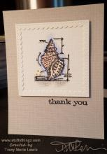 Seashell Thank You Card | Tracy Marie Lewis | www.stuffnthingz.com