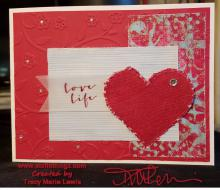 Red Denim Heart Valentine | Tracy Marie Lewis | www.stuffnthingz.com