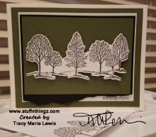 Multilayer Masculine Trees Card | Tracy Marie Lewis | www.stuffnthingz.com