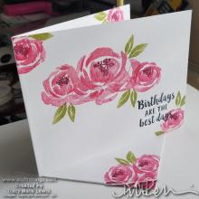 Melon Floral Birthday Card | Tracy Marie Lewis | www.stuffnthingz.com