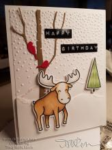 Winter Moose Birthday Card | Tracy Marie Lewis | www.stuffnthingz.com