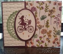 Happy Girl On A Bicycle Card | Tracy Marie Lewis | www.stuffnthingz.com