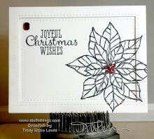 One More December Poinsettia Card | Tracy Marie Lewis | www.stuffnthingz.com