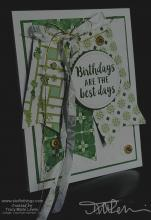 Retiring Green Banners Birthday Card | Tracy Marie Lewis | www.stuffnthingz.com