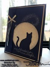 Stamp Camp - Navy Cat Of The Night Card | Tracy Marie Lewis | www.stuffnthingz.com