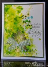 Green Sprinkles Happy Card | Tracy Marie Lewis | www.stuffnthingz.com