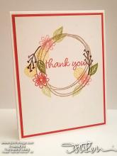 Swirly Thank You Stepped Up Card | Tracy Marie Lewis | www.stuffnthingz.com