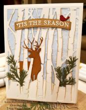 Tis the Season Deer in the Trees Card | Tracy Marie Lewis | www.stuffnthingz.com