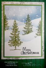 Pine Trees Merry Christmas Card | Tracy Marie Lewis | www.stuffnthingz.com