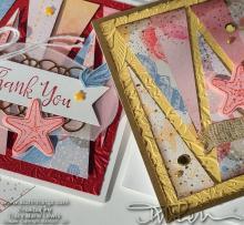 Triangle Strip Cards | Tracy Marie Lewis | www.stuffnthingz.com