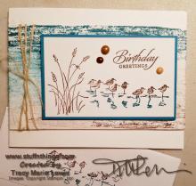 Wetlands Birthday Greetings Card | Tracy Marie Lewis | www.stuffnthingz.com