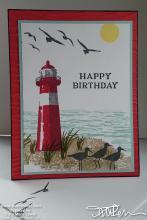 Lighthouse Birthday Card | Tracy Marie Lewis | www.stuffnthingz.com