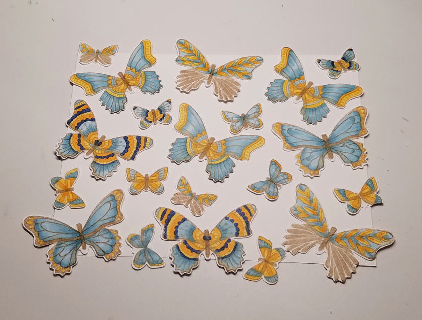 Butterfly Layout | Tracy Marie Lewis | www.stuffnthingz.com