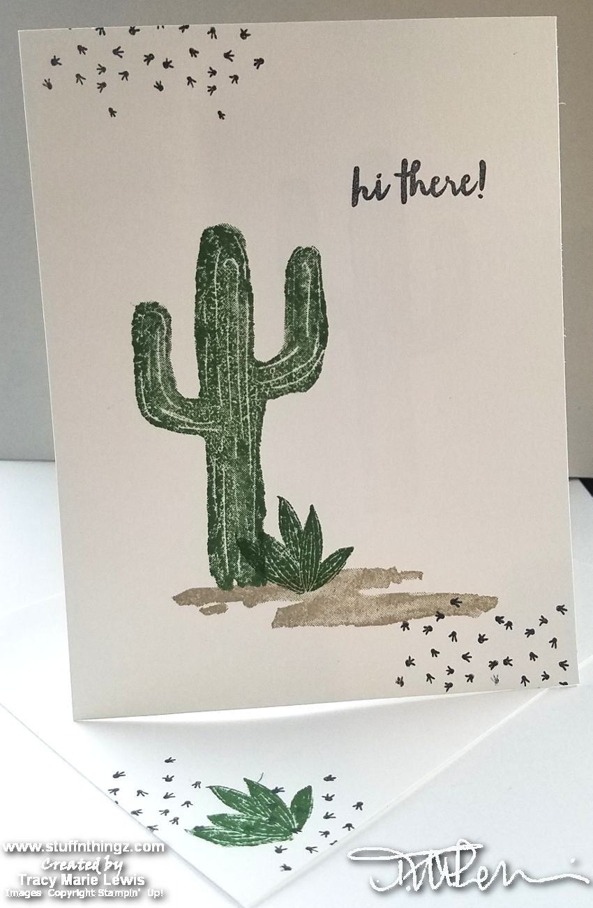 January 2019 Stampin' Dreams Blog Hop - Beginner Stamper A2 Card Example
