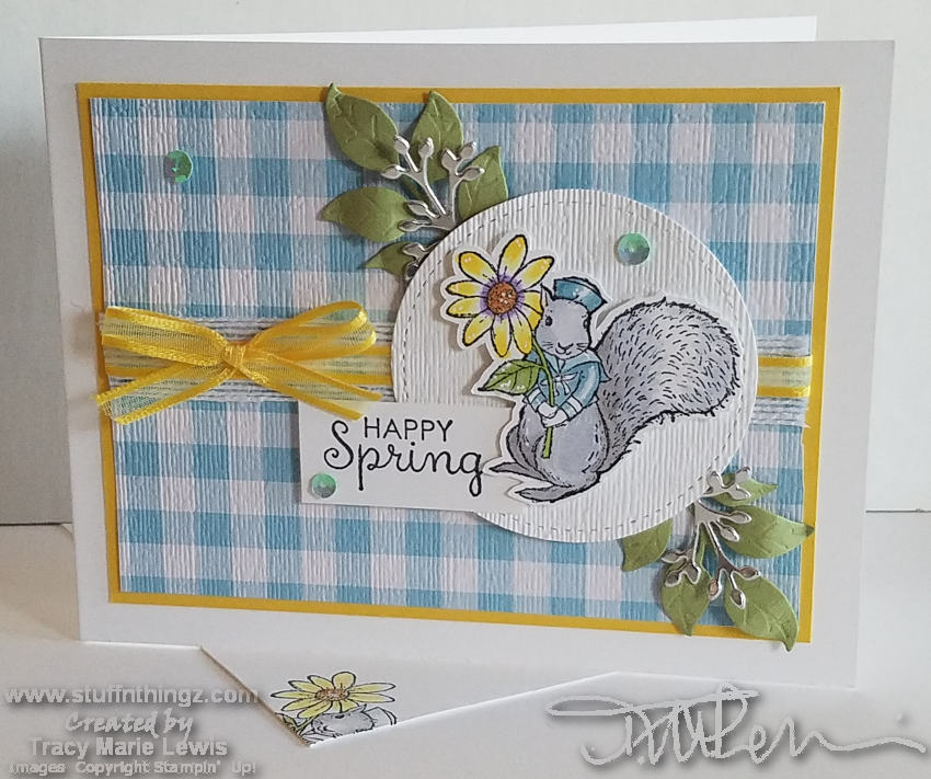 March 2019 Stampin Dreams Blog Hop - Happy Spring | Tracy Marie Lewis | www.stuffnthingz.com
