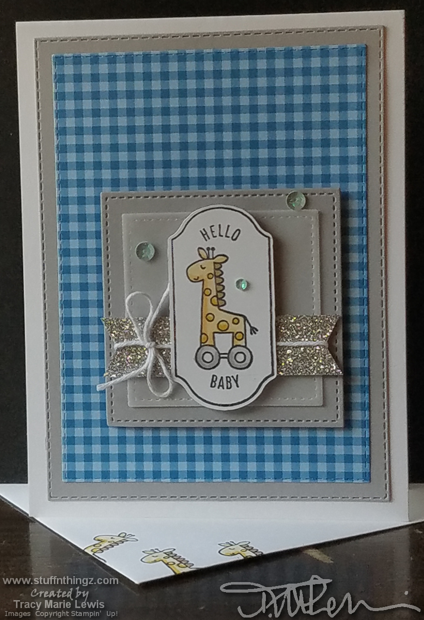 September 2019 Kre8tors Blog Hop - Hello Baby Boy Card | Tracy Marie Lewis | www.stuffnthingz.com