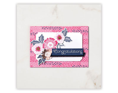 Congratulations Card - Everything Is Rosy | Tracy Marie Lewis | www.stuffnthingz.com