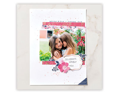 Scrapbook Page - Everything Is Rosy | Tracy Marie Lewis | www.stuffnthingz.com
