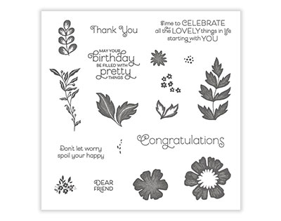 Everything Is Rosy Photopolymer Stamp Set | Tracy Marie Lewis | www.stuffnthingz.com