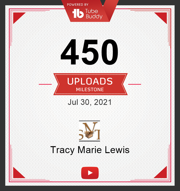 400 YT uploads certificate | Tracy Marie Lewis | www.stuffnthingz.com