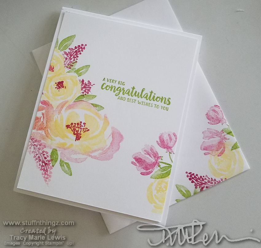 One Layer Floral Card | Tracy Marie Lewis | www.stuffnthingz.com