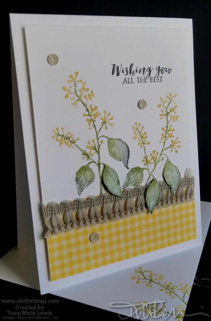 Casual Yellow Wishing You Card | Tracy Marie Lewis | www.stuffnthingz.com