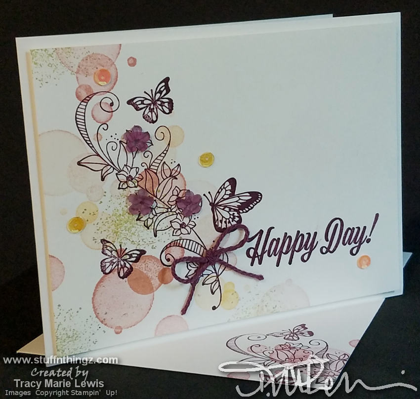 Happy Day Butterfly Casual Card | Tracy Marie Lewis | www.stuffnthingz.com