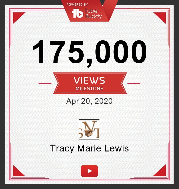 175k YT Views | Tracy Marie Lewis | www.stuffnthingz.com