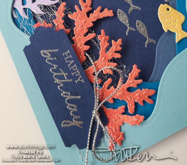 Seascape Diorama Birthday Card } Tracy Marie Lewis | www.stuffnthingz.com