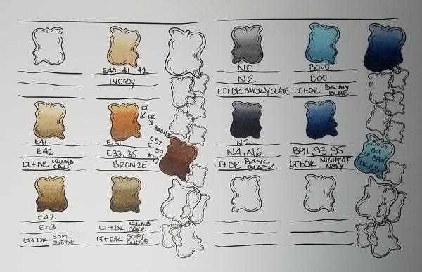Color Blending Reference Sheets   Tracy Marie Lewis   www.stuffnthingz.com