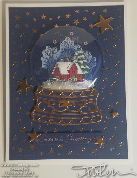 House Under A Starry Sky Christmas Card #5   Tracy Marie Lewis   www.stuffnthingz.com