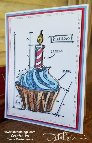 Cupcake Birthday Card For My Hubby | Tracy Marie Lewis | www.stuffnthingz.com