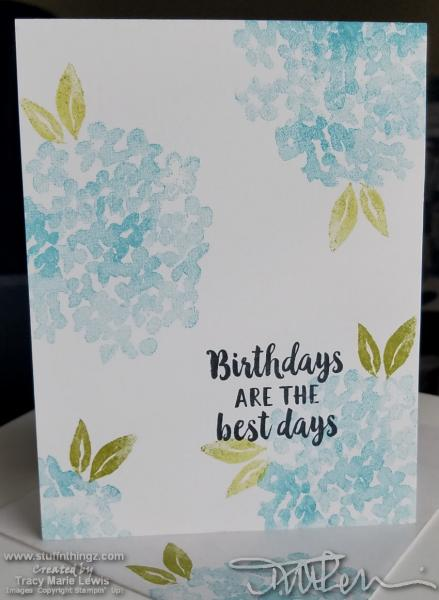 Simple Stamping Hydrangea Card | Tracy Marie Lewis | www.stuffnthingz.com