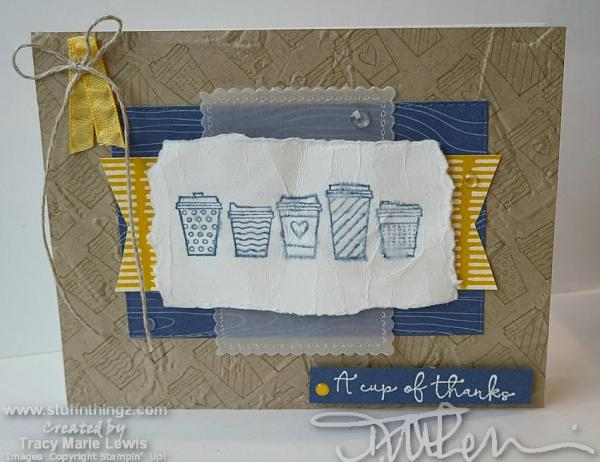 Coffee - Cup Of Thanks Card | Tracy Marie Lewis | www.stuffnthingz.com