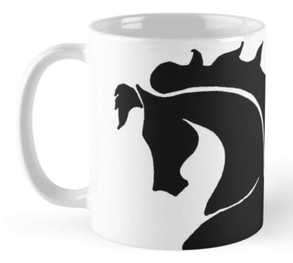 Red Bubble Prancing Horse Mug   Tracy Marie Lewis   www.stuffnthingz.com