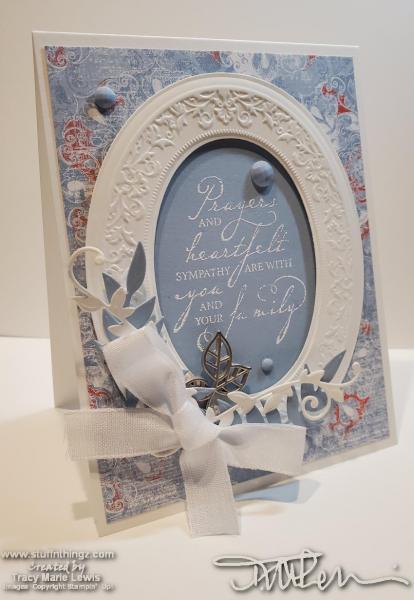 Retiring Blue Oval Frame Sympathy Card | Tracy Marie Lewis | www.stuffnthingz.com