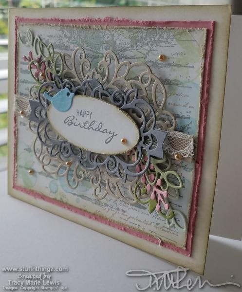 Blue Bird Layered Birthday Card | Tracy Marie Lewis | www.stuffnthingz.com