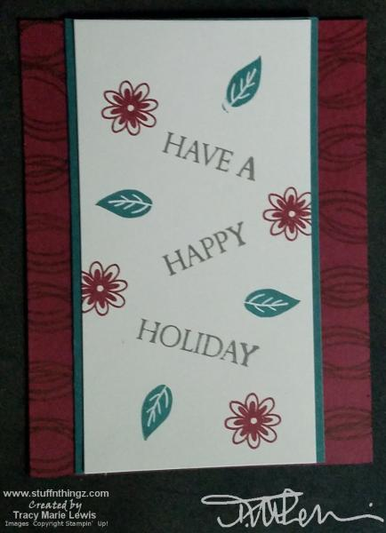 Swirled Holiday Beginner Card | Tracy Marie Lewis | www.stuffnthingz.com