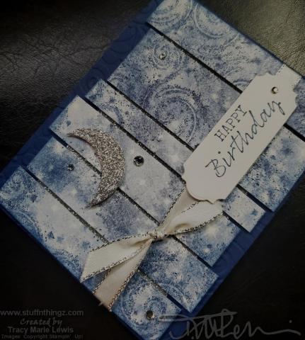 Retiring Showcase - Night Sky Birthday Card Angle   Tracy Marie Lewis   www.stuffnthingz.com