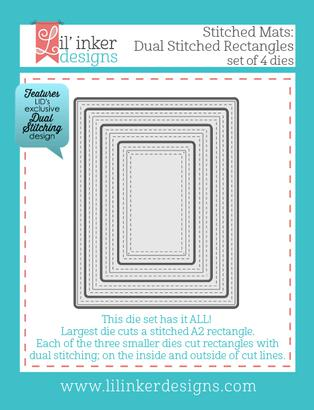 Lil' Inkers Designs - Dual Stitched Rectangles  | Tracy Marie Lewis | www.stuffnthingz.com