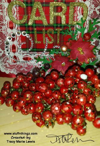 Christmas List Album - Tracy Marie lewis - www.stuffnthingz.com