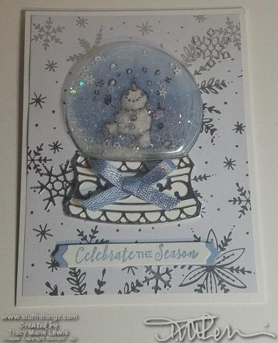 Snowman Merry Christmas Card #6   Tracy Marie Lewis   www.stuffnthingz.com