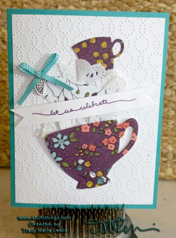 Stamp A Stack Card #5 - Tea Cups Class Version   www.stuffnthingz.com