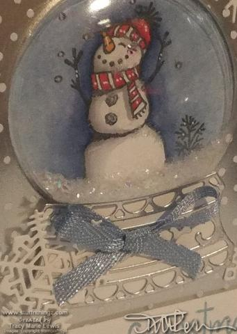 Snowman Merry Christmas Card #4 - Close Up  | Tracy Marie Lewis | www.stuffnthingz.com